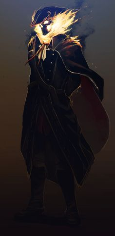 Haytham l'ordre by *CaptainBerunov on deviantART.....makes me think of ghost rider...the pirate version