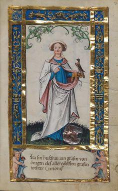 Lady in hawking glove with bird of prey (Merlin?) from Weingartener Stifterbüchlein (circa Artist unknown. Celtic Dragon, Celtic Art, Illuminated Letters, Illuminated Manuscript, 8th Grade Art, Medieval Paintings, Illumination Art, Medieval Art, Renaissance Art