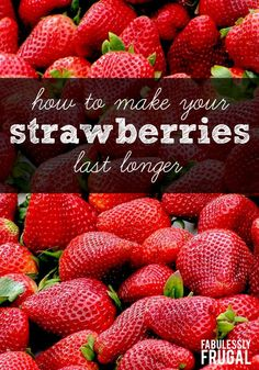 Learn how to make strawberries last longer with this simple, hack. This trick will keep your strawberries fresh for weeks! Strawberry Vinegar, Strawberry Preserves, Strawberry Plants, Strawberry Recipes, Fruit Recipes, Recipies, Nutella Recipes, Easy Recipes, Strawberries