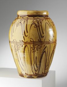 Hannah-McAndrew-Slip-Trail-Finger-Wipe-Large-Woodfired-Vase