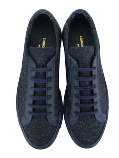 Achilles Navy Wool Trainers