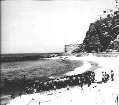 Le barche della Tonnara arrivano sulla lunga spiaggia della Marina di Pizzo.