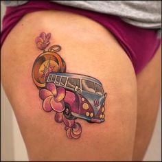 10 Cool Volkswagen Kombi Tattoos For Your Inner Hippie
