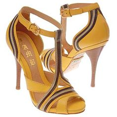 39 Amazing photo yellow sandals tips Crazy Shoes, Me Too Shoes, Jimmy Choo, Shoe Boots, Shoes Sandals, Christian Louboutin, Yellow Sandals, Yellow Heels, Prada