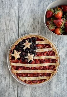 American Flag Berry Pie - Obsessive Cooking Disorder Frozen Pastry, Blue Fruits, Berry Pie, Strawberry Filling, Egg Wash, Simply Recipes, Food Photo, I Foods, American Flag