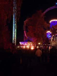 As autumn evenings grow darker, the Linnanmäki amusement park lights up in beautiful colours and the rides are open for one last time bef Carnival Lights, Her Campus, Amusement Park, Helsinki, Light Up, Photography, Beautiful, Photograph, Fotografie