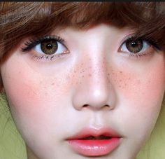 pretty... with freckles. Not all skin has to be flawless