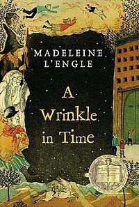 My first book I remember --  Rebekah - Sequels http://upload.wikimedia.org/wikipedia/en/thumb/d/de/A_wrinkle_in_time_digest_2007.jpg/200px-A_wrinkle_in_time_digest_2007.jpg
