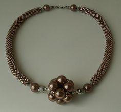 'Brown Pearl' Bead Crochet Rope with Bead by helen_likes_racing, via Flickr