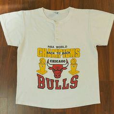 MJ Monday's! Don't snooze on this fresh, vintage 1991 - 1992 Chicago Bulls, NBA World Champions retro tee available on www.JustOneVintage.com #LosClasicos #MJMondays