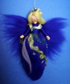 AURORA BOREALIS FAIRY  needle felted Wool Stars Doll by Holichsmir, $26.00