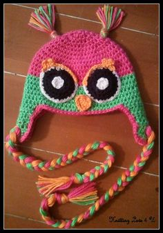 Owl Ear Flap Hat by KnittingLove4U on Etsy, $30.00