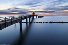 "Island Rügen (Germany) in the Baltic Sea, taken at the famous pier called ""See Brücke"" - sea bridge in Sellin."