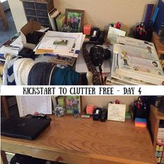Kickstart to Clutter Free - Day 4: struggling with clutter? You need to check out Kathi Lipp's eCourse