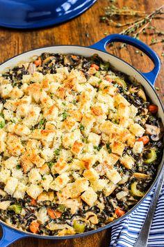 Chicken Wild Rice Casserole with Gruyere. A gorgeous casserole/hotdish by @farmgirlsdabble!