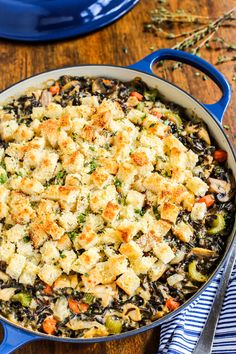 Chicken Wild Rice Casserole with Gruyere. A gorgeous casserole/hotdish by @farmgirlsdabble!