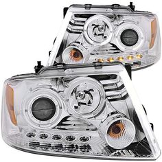 2004-2008 Ford F150 Clear Projector Headlights with Dual Halo and LED | A132TRK6101 - TopGearAutosport