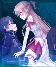 Sword Art Online - Kirito x Asuna Sword Art Online Kirito, Arte Online, Online Art, Sao Kirito And Asuna, Tous Les Anime, Sword Art Online Wallpaper, Accel World, Estilo Anime, Online Anime