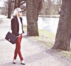 craving for red leather pants