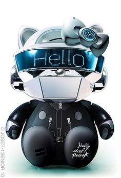 Hello Daft Punk THOMAS from My Hello Kitty Pop Culture series by joseph senior yodaflicker Sanrio Hello Kitty, Chat Hello Kitty, Hello Kitty Items, Kitty Kitty, Daft Punk, Little Twin Stars, Keroppi, Capas Dvd, Hello Kitty Characters