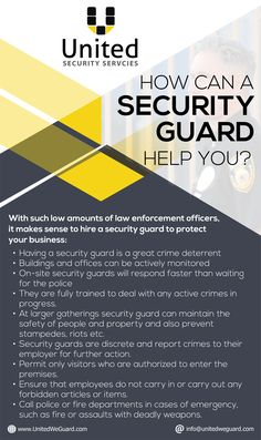 If you are looking for Security guard services to protect your buildings and events. Visit our website http://www.unitedweguard.com/