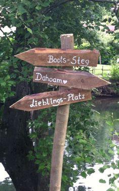 Wegweiser Garten selbst bauen und beschriften Anleitung