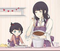 Hinata and Himawari making valentine's chocolates!