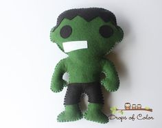 One BIG Super Hero Plush Toy  HULK  Pillow Toy by dropsofcolorshop, $40.00