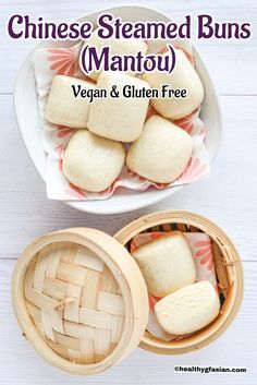 Gluten Free & Vegan Chinese Steamed Buns (Mantou) | Healthy gf Asian