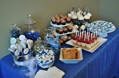 graduation party desserts | Graduation dessert bar - just needs to be purple :)