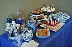 graduation party desserts | Graduation dessert bar - just needs to be purple :)