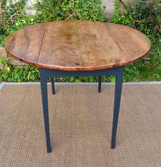Table ronde pour cuisine plateau en bois naturel