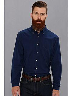 Indigo dyed oxford shirt from Gant Rugger #fashion #favorites