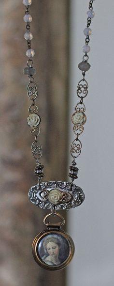 Assemblage vintage necklaceVia Delorosaportrait by crownedbygrace