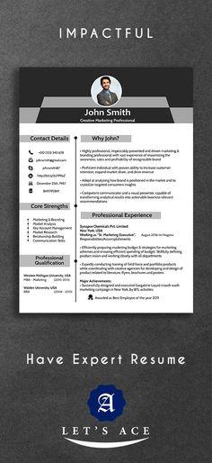 Orienta - Free professional resume CV template - Gray   Resume / CV ...