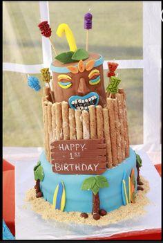 Pleasant 52 Best Tiki Cakes Images Luau Luau Cakes Luau Party Funny Birthday Cards Online Elaedamsfinfo