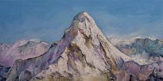 "HIMALAYAS 12x24"" Oil Painting Mountain Landscape Impressionism Original M.Creese #Impressionism"
