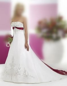 New Stock White+burgundy Wedding Dress Bridal Gown Wedding Dress 2013, Wedding Dresses Uk, Black Party Dresses, Backless Prom Dresses, Prom Dresses Blue, Cheap Wedding Dress, Chiffon Dresses, Dresses 2013, Oscar Evening Dress