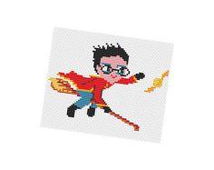 HARRY FLIES  Cross stitch Pattern PDF   Boy Girl di POWSTITCH