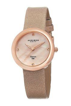 Akribos Xxiv Women's Swiss Quartz Mother of Pearl Diamond Pink Strap Watch, Size: 31 mm, PK Bling Bling, Pearl Diamond, Diamond Quartz, Quartz Watch, Jewelry Watches, Gold Watches, Fashion Jewelry, Jewels, Satin