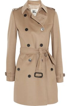Burberry London|Mid-length wool and cashmere-blend trench coatin camel