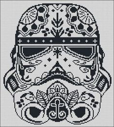 BOGO FREE! Storm Trooper, Star Wars Cross Stitch Pattern Stormtrooper Needlecraft Sugar Skull Embroidery Needlework Instant Download #002-1: