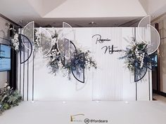 #weddingdecorationthailand #eastingrandhotelsathorn #graphicweddingstyle #weddingreceptionthailand #weddingceremony  #fordeara #fordearaweddings  #minimalwedding #minimalweddingstyle #blueandwhitewedding #backdrop #backdropสีขาวน้ำเงิน #ฉากงานแต่งงาน #ฉากถ่ายรูปงานแต่ง #การแต่งงาน #modernbackdrop Wedding Backdrop Design, Wedding Ceremony Backdrop, Wedding Decorations, Grass Decor, Minimal Wedding, Fairytale Weddings, Photo Booth Backdrop, Wedding Designs, Wedding Events