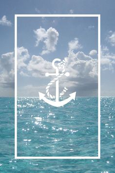 wallpaper, anchor, and sea image