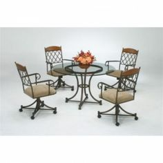 The Tempo like Madrid 5pc Madison dinette set by Callee comes with 4 very…