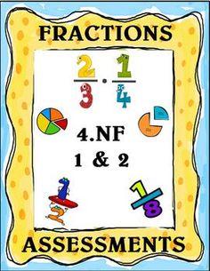 Fractions Assessment Packet - Grade 4