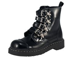 Shop a huge selection of Goth platform boots and punk boots for women. Our Gothic boots for women include platforms, heels, combat style, and much more! Gothic Boots, Punk Boots, Cat Shoes, Shoe Boots, Women's Shoes, Buckle Boots, Combat Boots, Riding Boots, Lace Up Boots