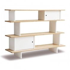 The Oeuf mini library offers stylish and practical storage for childrens rooms. Children will love its fun design and easy-to-reach height. Parents will love its sleek contemporary looks and sturdy construction.