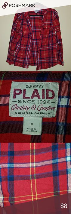 Red Flannel Shirt Women's Old Navy Flannel Shirt Tops Blouses