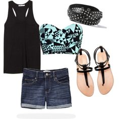 """cute summer outfit."" by alleyswag on Polyvore"